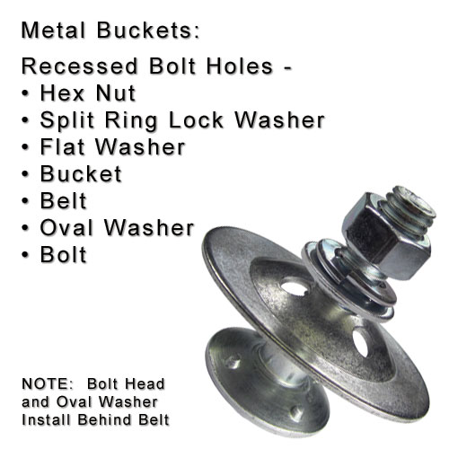 Ref70 elevator bolt with domed washer