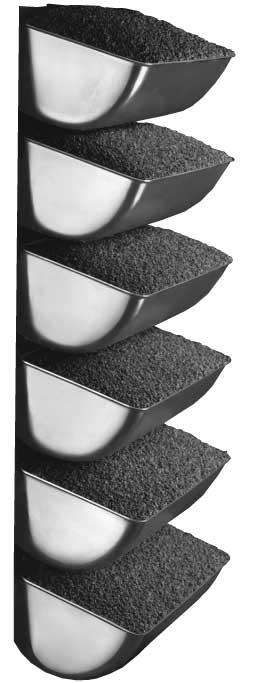 SPS steel elevator buckets mounted on belt