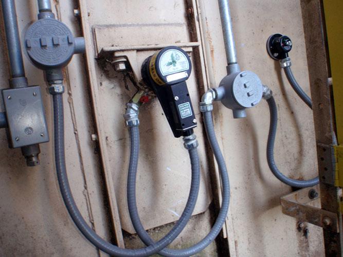 Whirligig shaft sensor mount on elevator