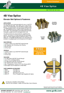 :Product Datasheet - Vise Splice Belt Joiners