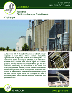 Case Study - Flat Bottom Conveyor Chain Upgrade in Rice Mill