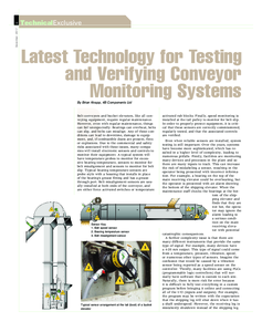 Technical Article: Testing & Verifying Conveyor Monitoring Systems