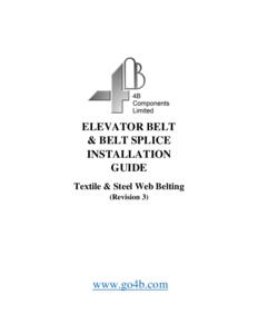 Elevator Belt Installation Guide
